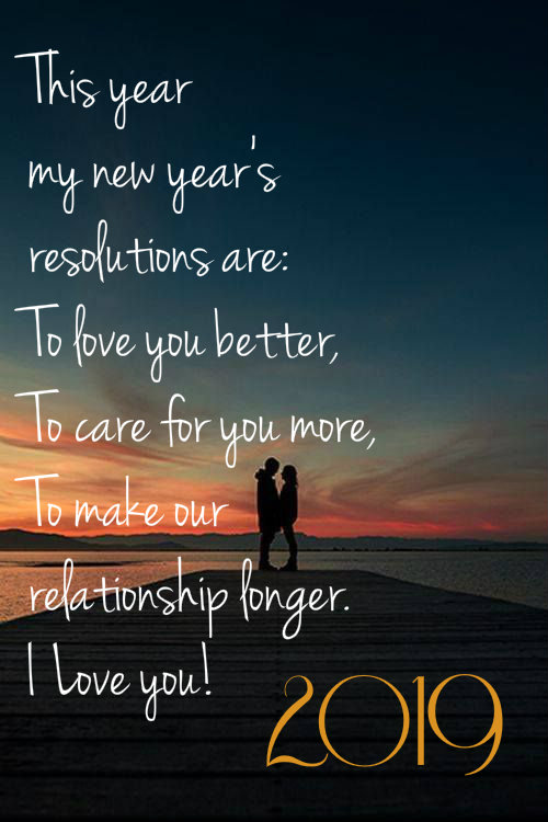 Happy New Year 2019 Love Quotes for Her