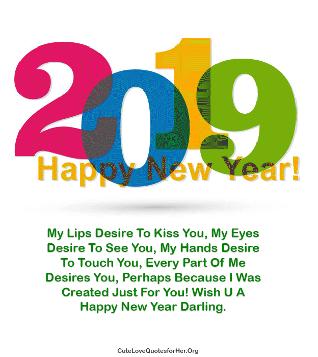 Happy New Year 2019 Love Quotes For Her Him To Wish Romance