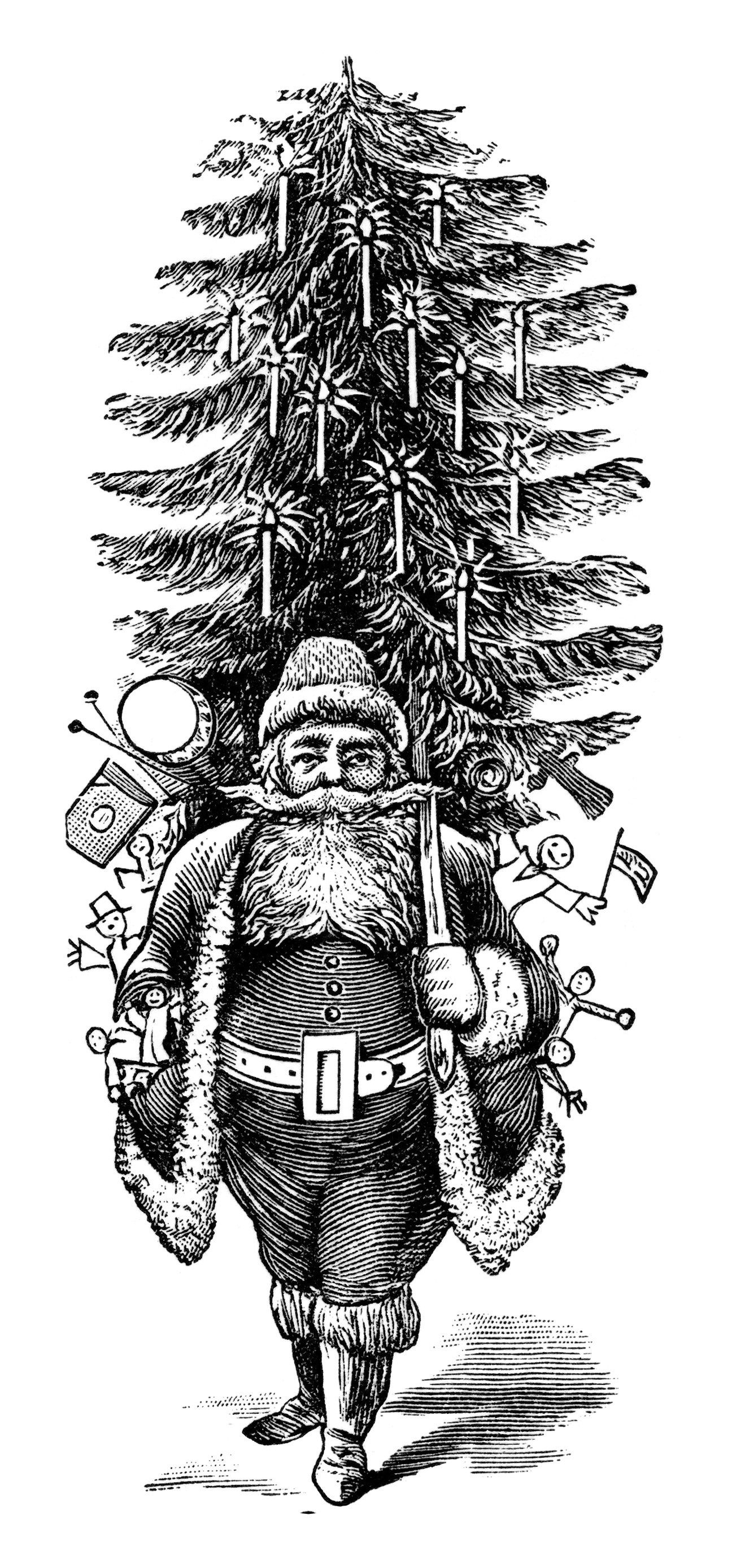 Christmas Black And White Images 2019