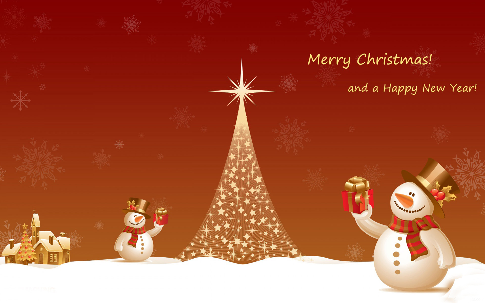 The Best Merry Christmas And Happy New Year 2021 Wallpaper